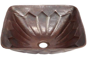Espeso Alegre Single Wall Copper Vessel Sink