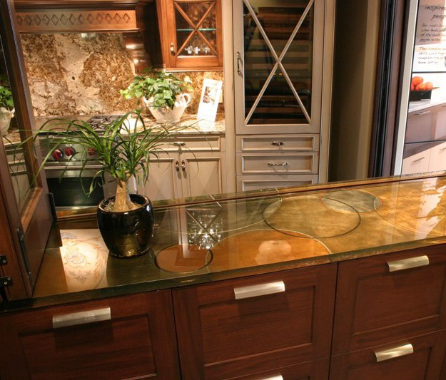 Rings Glass Countertop