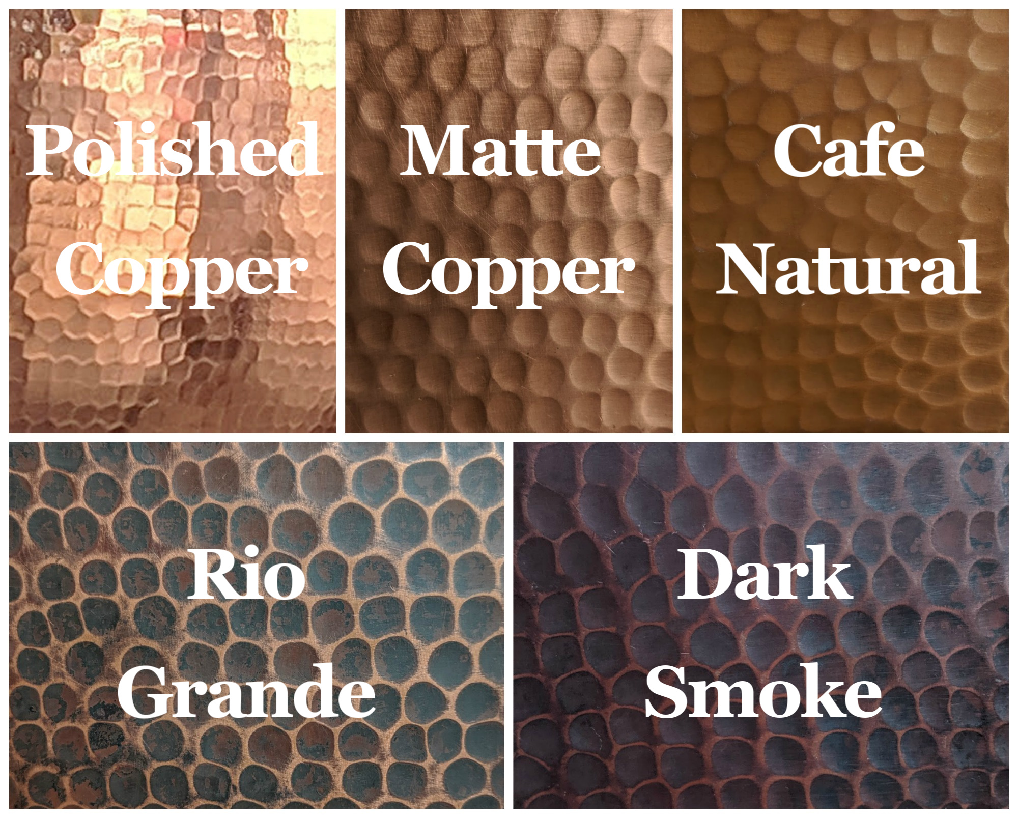 Copper Patina Examples