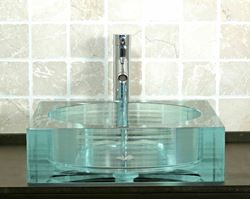 Square Glass Vessel Bath Sink