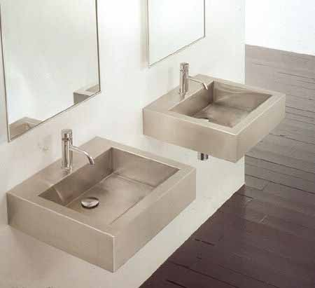 Picture of Square Stainless Wall-Mount or Vessel Bath Sink