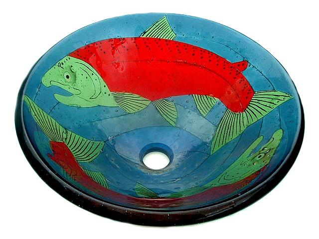 Picture of Sockeye Salmon Glass Vessel Sink