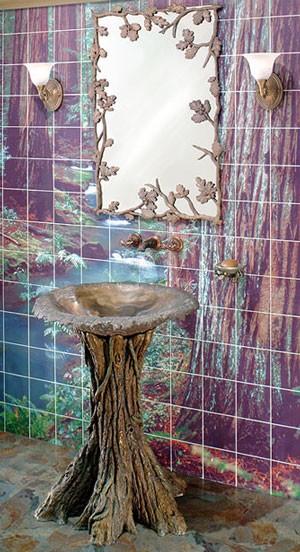 Picture of Fairy Tale Oak Bathroom Pedestal