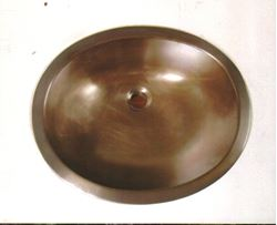 "20"" Oval Bronze Bath Sink"
