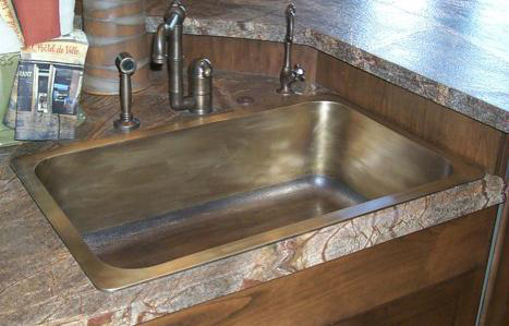 Picture of Cast Bronze Kitchen Sink - 32""