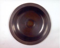 "Picture of 12"" Round Bronze Bar Sink"