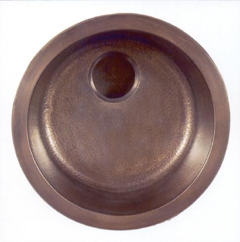 """Picture of 17"""" Round Bronze Bar Sink"""