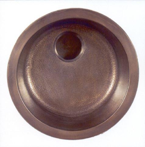 """17"""" Round Bronze Bar Sink"""