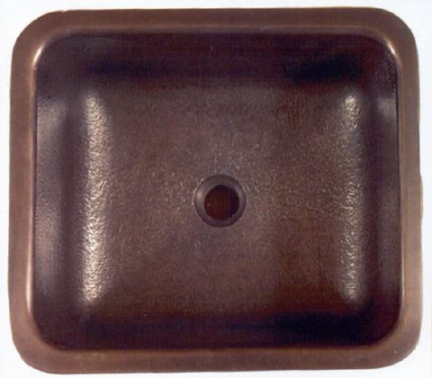 1614 Square Bronze Bar Sink