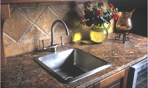 "18"" Square Bronze Bar Sink"