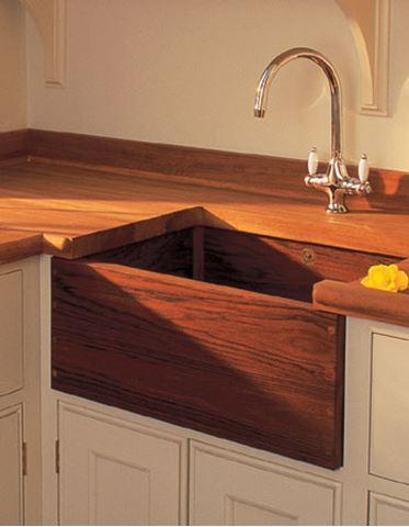 Belfast Teak Wood Farmhouse Kitchen Sink