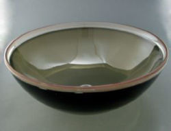 Blown Glass Sink - Olive Bronze