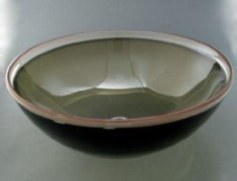 Blown Glass Sink - Olive Bronze