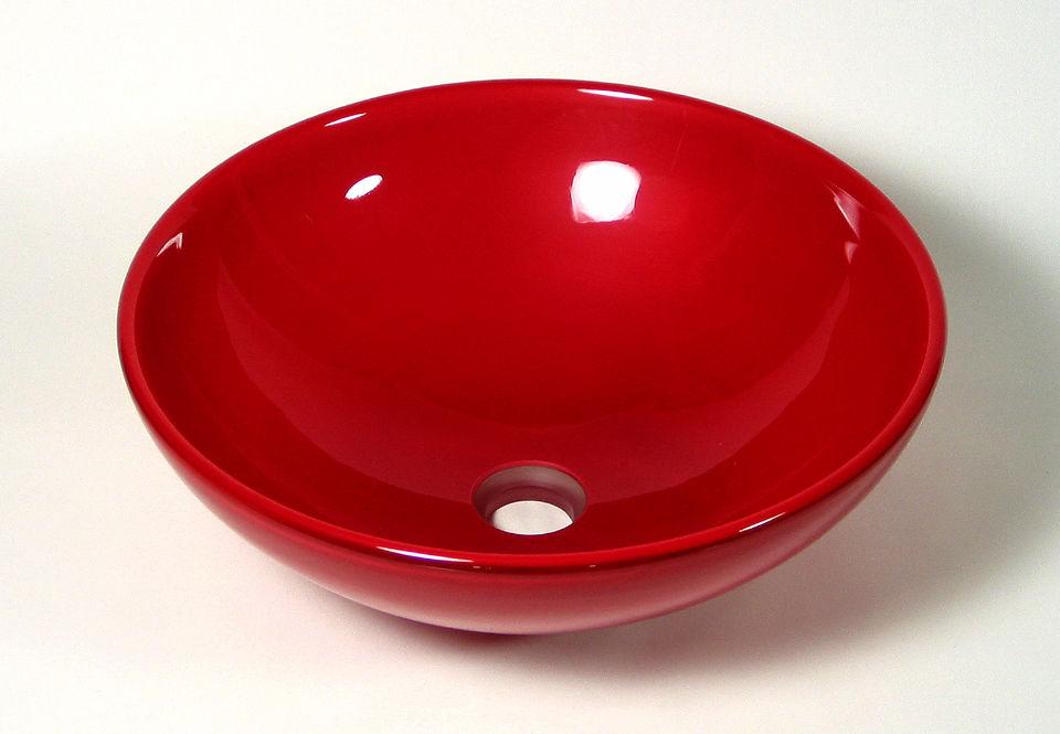 Blown Glass Sink | Crimson