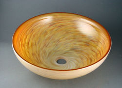 Blown Glass Sink - Alabaster Swirl