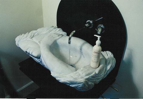 Serenity Carved Marble Sink