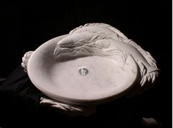 Picture of Trident Carved Marble Sink