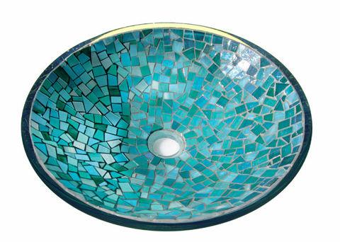 Indigo Crystals Glass Mosaic Sink