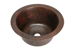 "16"" Round Copper Bar Sink by SoLuna"