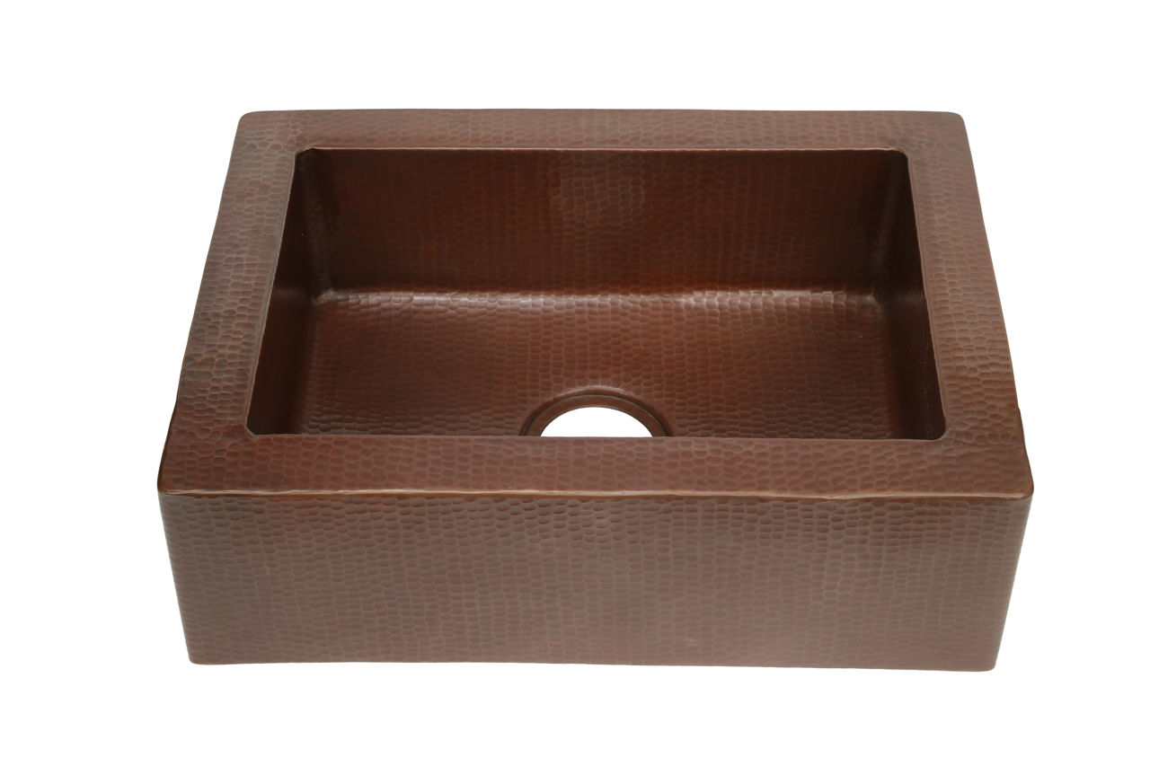 """Picture of 22"""" Single Well Copper Farmhouse Sink by SoLuna"""