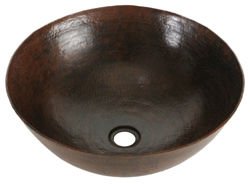 "16"" Espeso Redondo Copper Vessel Sink by SoLuna"
