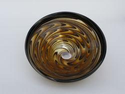 Blown Glass Sink | Gold Earthen Vortex