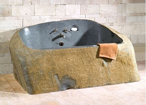 Cavestone Granite Natural Rock Bathtub