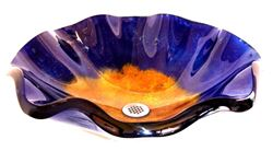Azzuro Wavy Edge Glass Vessel Sink