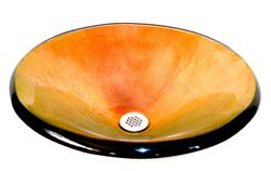Fuoco Vibrente Round Glass Vessel Sink
