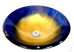 Oceanus I Round Glass Vessel Sink