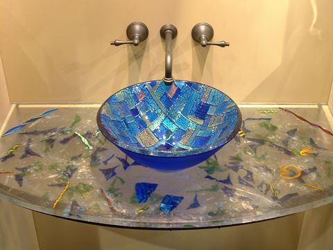 Cast Glass Vanity Top
