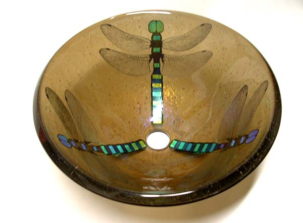 Picture of Bronze Dragonfly Vessel Sink