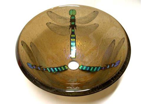 Bronze Dragonfly Vessel Sink