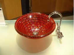 Picture of Red Mosaic Vessel Sink