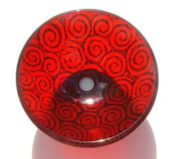 Spiral Cherry Red Vessel Sink