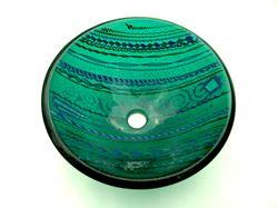 Emerald Tapestry Vessel Sink