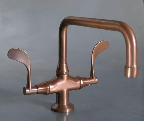 Sonoma Forge | Bathroom Faucet | Wingnut Fixed Spout | Deck Mount
