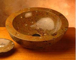 Fossil Vessel Sink from North Africa in Style C