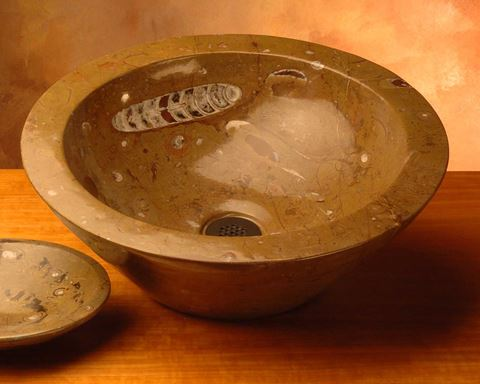 Fossil Vessel sink in Style V