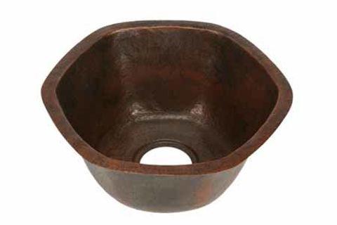 Hexagon Copper Kitchen Prep Sink By SoLuna