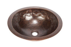 "Picture of 17"" Round Copper Bathroom Sink w/Joining Rings by SoLuna"