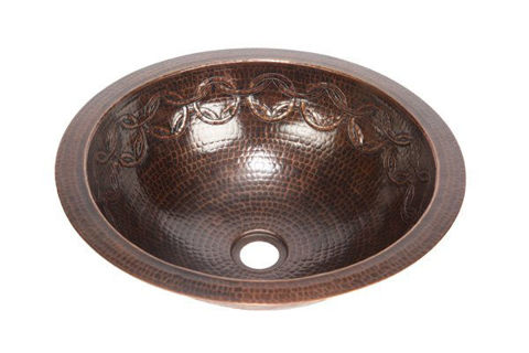 """17"""" Round Copper Bathroom Sink w/Joining Rings by SoLuna"""