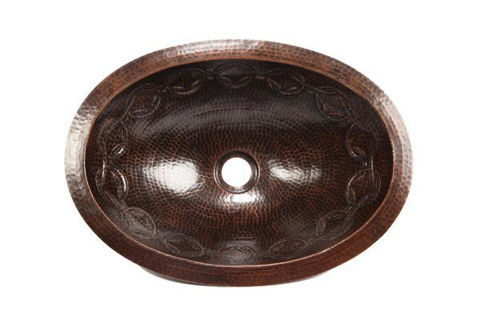 """17"""" Oval Copper Bathroom Sink - Joining Rings by SoLuna"""