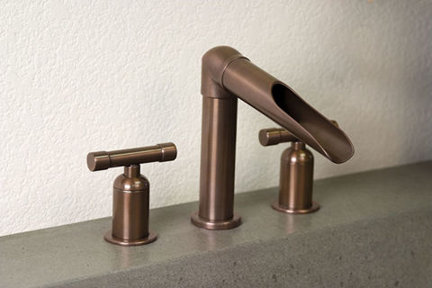 Sonoma Forge   Bathroom Faucet   Wherever Waterfall   Deck Mount