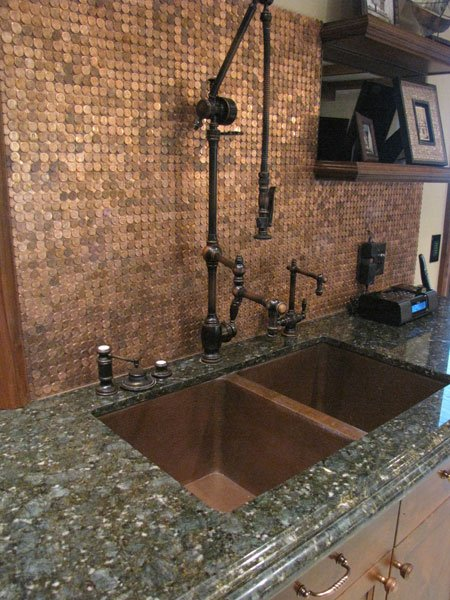 """Picture of Waterstone Towson Gantry Kitchen Faucet with 12"""" Articulated Spout"""
