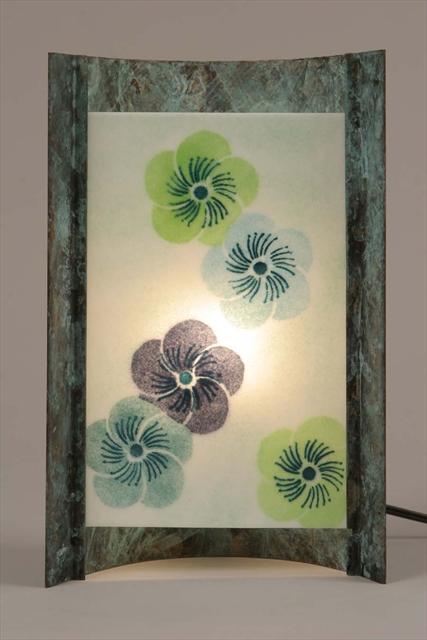 Picture of Unique Lamps   Blue Blossom