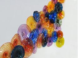 Colorful Blown Glass Wall Art Sculpture