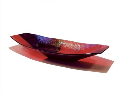 Red Harlequin Boat Bowl