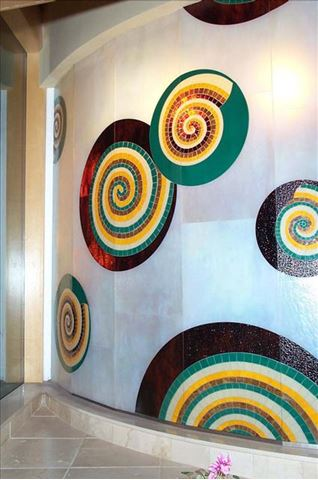 Mosaic Wall with Spirals