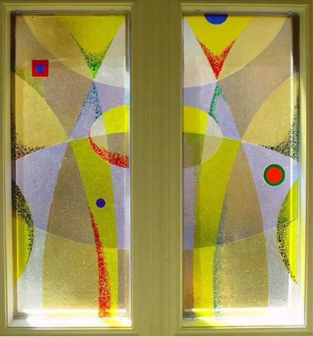 Yellow Frit Window